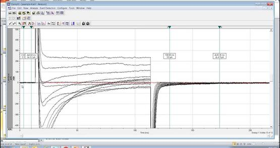 Calculate Decay Time Constant, and Perform Curve Fitting Using Axon pCLAMP Software